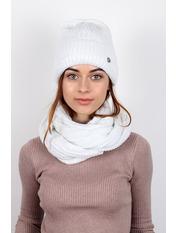 Комплект шапка и снуд Колин Белый