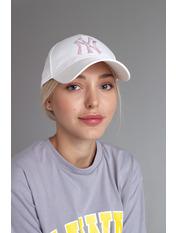 Бейсболка Анабель Белый 56-59 Бело-розовый
