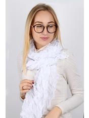 Шарф Двойной цвет Белый 180*30