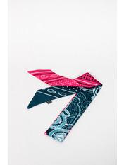 Шарф Энн 95*5 Зеленый Изумрудный+розовый