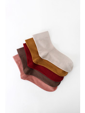 Носочки Рэй упаковка Бордовый 36-39 Разные цвета