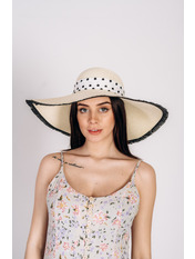 Шляпа широкополая Джанин Молочный Молочный 56