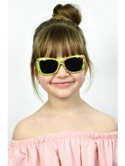 Солнцезащитные детские очки Тиана Общая ширина 13.0(см)/ Высота линзы 4.0(см)/ Ширина линзы 5.0(см) Зеленый Салатовый