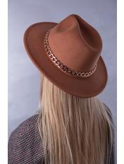 Шляпа фетровая SHL-А1(7) Коричневый Капучиновый