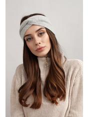 Повязка на голову Амелия one size Серый Светло-серый