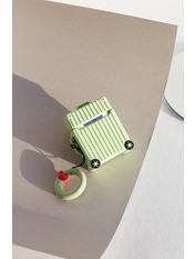 Чохол для навушників Чемоданчик колесами one size one size Зеленый