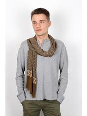 Чоловічий шарф Кастор 160*30 Капучино Капучиновий