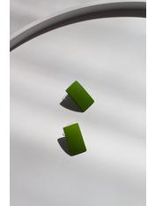 Серьги фигурные SER-21306 Зеленый