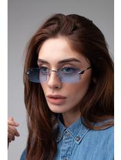 Имиджевые очки S31528 Общая ширина 14(см)/ Высота линзы 4(см)/ Ширина линзы 5,5(см) Голубой
