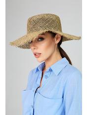 Широкополий капелюх SHL-2117 Бежевый Коричневый *