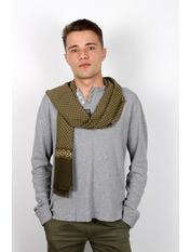Чоловічий шарф Кастор 160*30 Зелений Салатовий