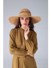 Шляпа широкополая Анита Бежевый Песочный 56-59