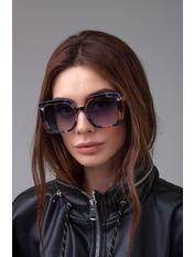 Солнцезащитные очки К1920 Чорний з принтом Черный