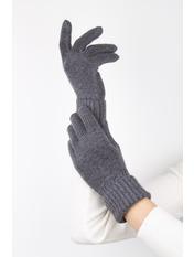 Женские перчатки Герда one size Серый Темно-серый