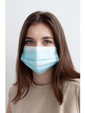 Медичні маски one size Голубой