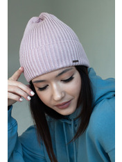 Шапка Риана one size Розовый Светло-пудровый