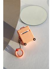 Чохол для навушників Чемоданчик колесами one size one size Оранжевый Персиковый