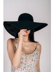 Шляпа широкополая Полин Черный 57