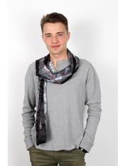 Чоловічий шарф Полукс 166*27 Чорний Чорний