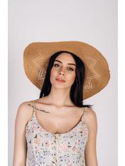 Шляпа широкополая Бетти Бежевый Песочный 56-59