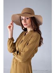 Шляпа широкополая Кими 57-58 Капучино Капучиновый