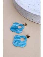 Серьги Джесинда Длина 5(см)/ Ширина 4(см) Голубой Голубой