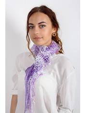 Шарф Клавдия Длина 105(см)/ Ширина 15(см) Фиолетовый Лиловый