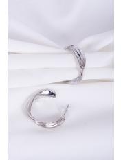 Серьги полукольца SER-21408 Серебристый