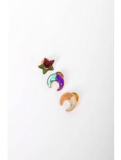 Набор брошек Лонгория Разные цвета Разноцветный Длина 2(см)/ Ширина 2(см)