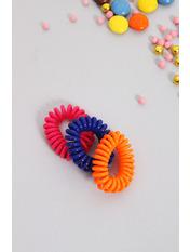 Набор резинок Руби Ширина 1(см)/ Диаметр 3.5(см) Разноцветный Синий+желтый+розовый