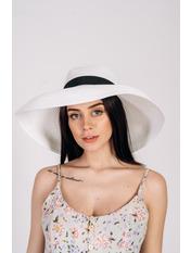 Шляпа широкополая Хелен Белый 56 Белый