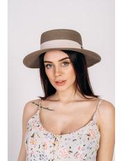 Шляпа канотье SHL-1792 Капучино Темно-капучиновый 57
