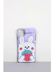 Чехол для iPhone Зайчик 11 Pro Фиолетовый Лиловый