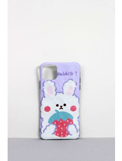 Чехол для iPhone Зайчик 11 Pro Max Фиолетовый Лиловый