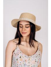 Шляпа канотье Винн Бежевый Бежевый 57