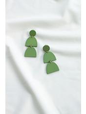 Серьги подвески SER-21181 Зеленый