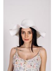Шляпа широкополая Кассандра Белый Белый 56