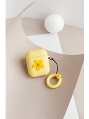Чехол для наушников Apple Цветок one size Желтый Желтый