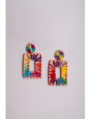 Серьги Одри Разноцветный  7,0*3,6 Разноцветный