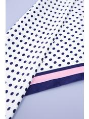 Платок атласный PLA-21018 Розовый Синий+персиковый Синий
