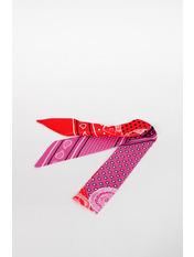 Шарф Энн 95*5 Красный Розовый+красный