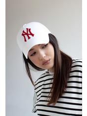 Бейсболка NewYork Белый 55-56 Бело-красный