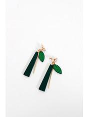 Серьги подвески SER-21115 Зеленый