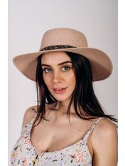 Шляпа канотье Джина Розовый 57 Пудровый