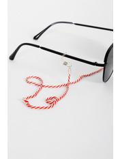 Цепочка для очков AKS-0016 Длина 16.4(см)/ Ширина 2(см) Красный