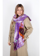 Шелковый палантин Инга 180*70 Фиолетовый