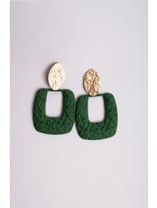 Серьги Орин Зеленый 7*4 Зеленый