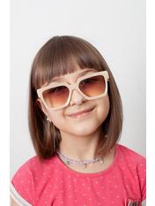 Солнцезащитные детские очки 2032 12,5*4,3 Молочный Молочный