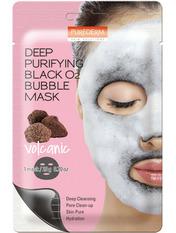 Маски для лица тканевая Purederm Deep Purifying Black O2 Bubble с вулканической глиной 25 г