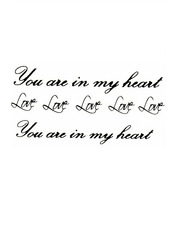 Бодиарт In my heart Черный one size Черно-белый